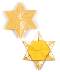 2d six-pointed origami paper star