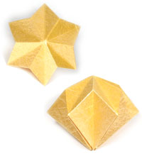 3d four-pointed origami paper star