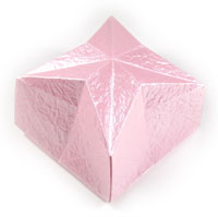 closed origami box of star