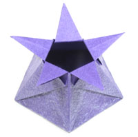 five-pointed cute origami star box