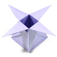 four-pointed cute origami box of star
