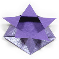 five-pointed cute origami box of star