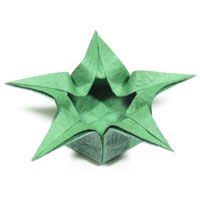 five-pointed lovely origami box of star