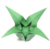 four-pointed lovely origami box of star