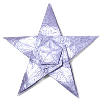 CB seashell five-pointed origami star