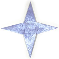 CB seashell four-pointed  origami star