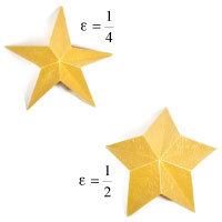 easy embossed five-pointed origami paper star