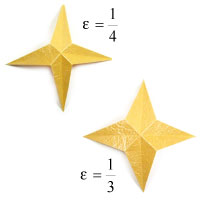 easy embossed four-pointed origami paper star