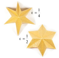 easy embossed six-pointed origami paper star