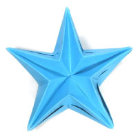 five-pointed modular origami paper star