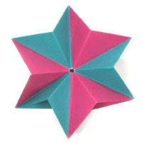 traditional modular origami paper star
