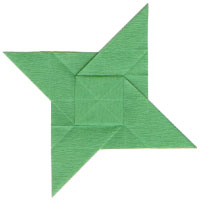 counterclockwisely rotating origami star