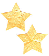 seashell five-pointed origami paper star