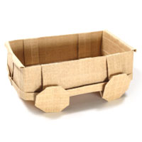 3d origami wagon