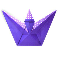 spell-casting origami wizard