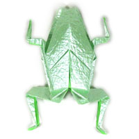 traditional origami frog