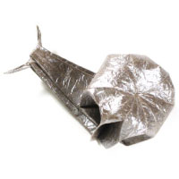 traditional origami snail