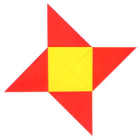 traditional origami star