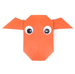 easy origami cow
