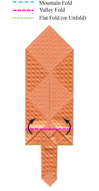 Origami Sword Diagrams Paper Pete Diagram By Cahoonas