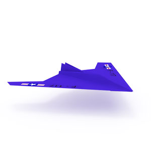 traditional F117 Nighthawk origami airplane for kids