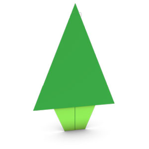 origami Christmas tree for kids