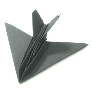 origami stealth aircraft (perspective view)