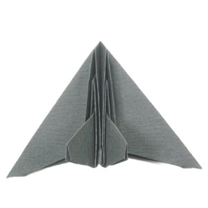 origami stealth aircraft (top view)