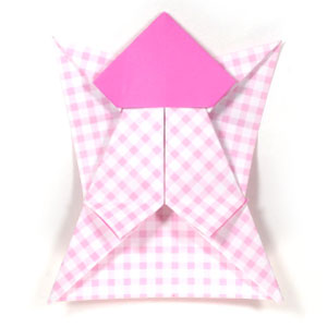 easy angel origami instructions.