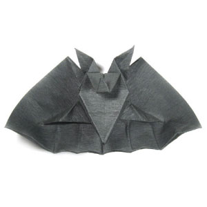origami bat for Halloween