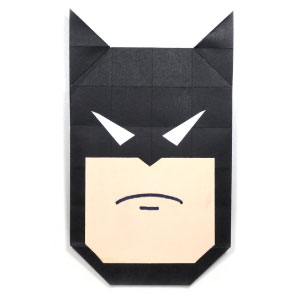 origami batman\'s face