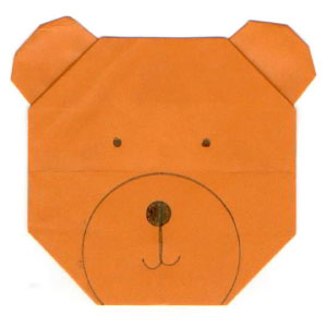How to make an easy origami bear: page 1