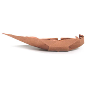 traditional origami  junk boat