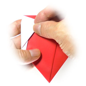 How to make an origami bookmark of santa-face: page 13 | 300x300