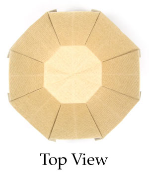 top view of 3D origami bowl