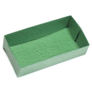 flat rectangular origami box