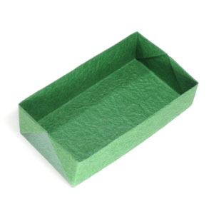 Flat Rectangular Origami Box Ii