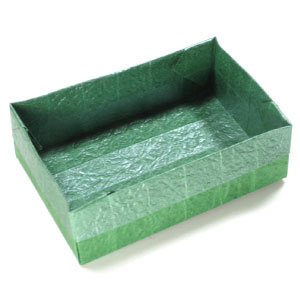wide rectangular origami box