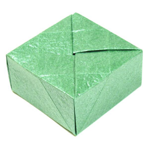 how to make a closed square origami box page 1