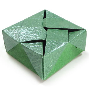 closed square origami box II