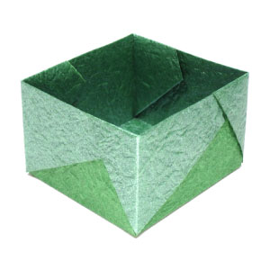 medium square origami box