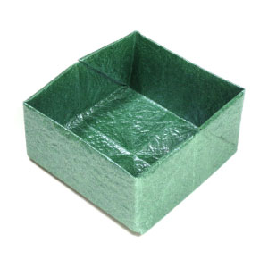 small square origami box
