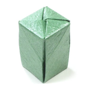 closed tall origami box cover