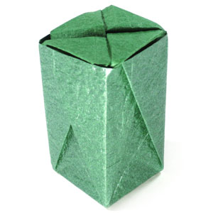 closed tall origami box II