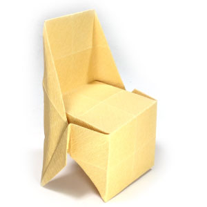 large regular origami chair
