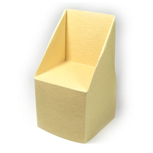 large trapezoid origami chair