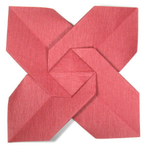 Origami Christmas Flower Poinsettia
