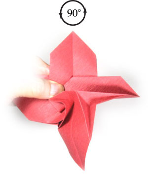 How to make an origami christmas flower poinsettia page 11 19th picture of origami christmas flower poinsettia mightylinksfo