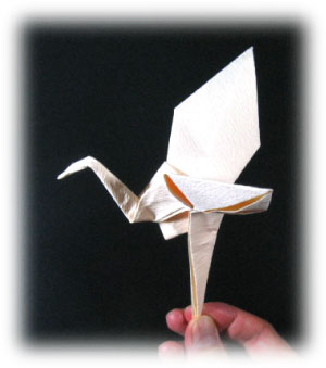 flying origami crane II