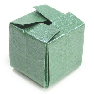 How to make a closable origami cube: page 1